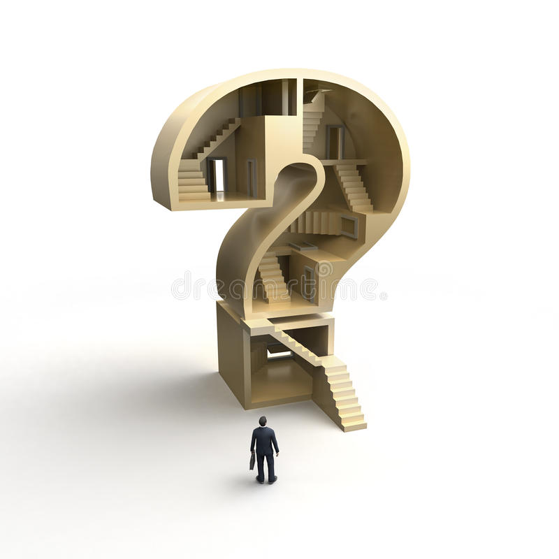 Pergunta complicada grande ilustração stock