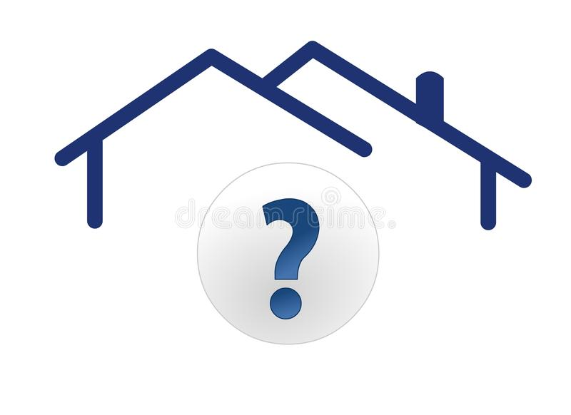 Pergunta da casa ilustração do vetor