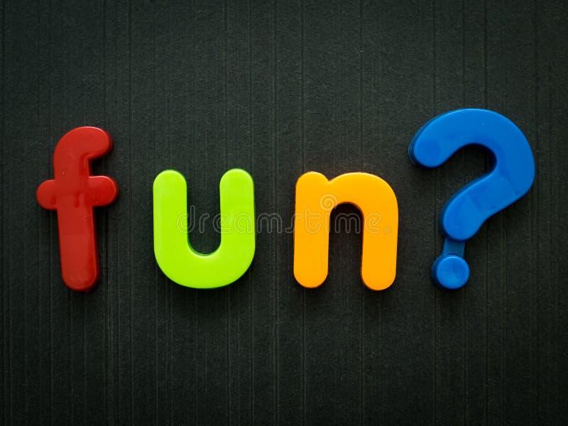 Pergunta do divertimento foto de stock