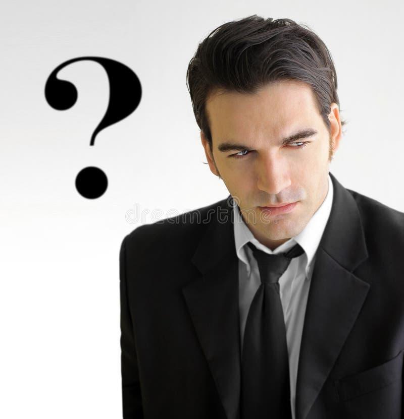 Pergunta do homem de negócio foto de stock royalty free