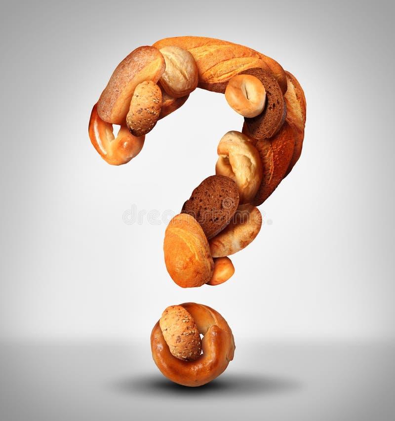 Pergunta do pão ilustração do vetor