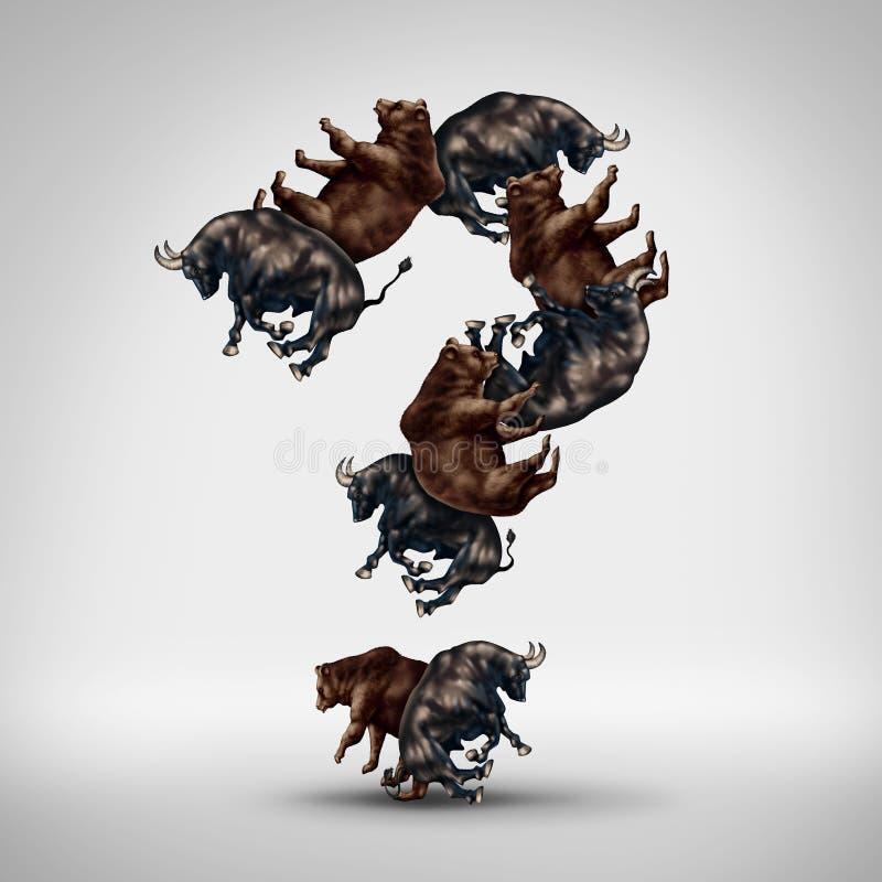 Pergunta dos touros e dos ursos ilustração royalty free