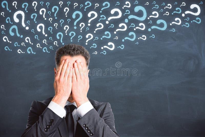Pergunta e conceito perdido imagem de stock