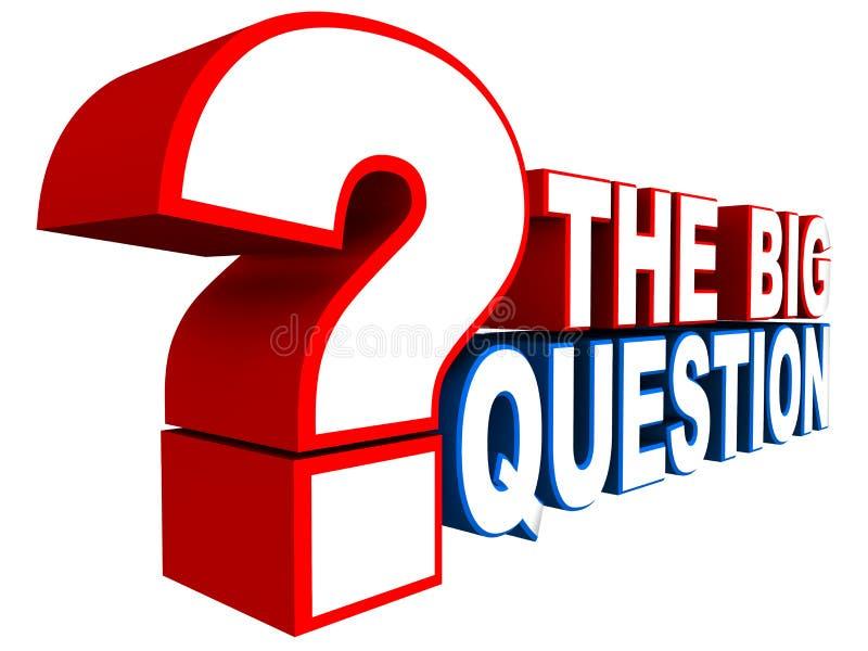 A pergunta grande ilustração royalty free