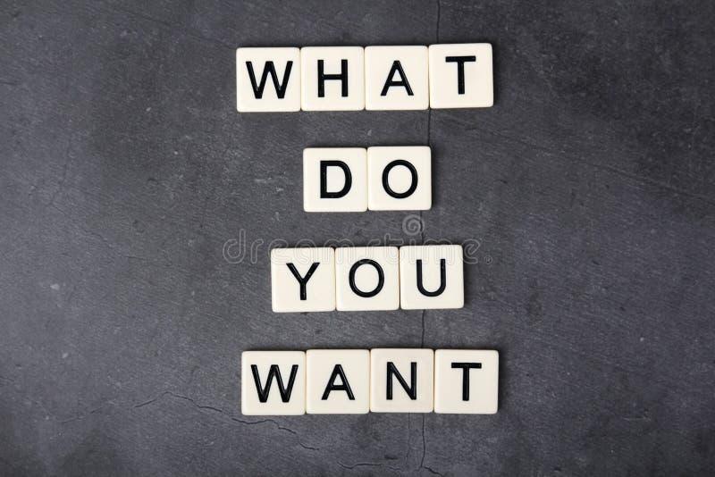 Pergunta inspirador formada com letras imagens de stock