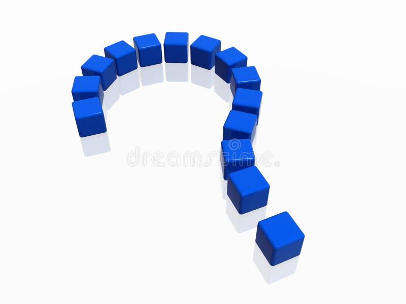 Pergunta-marca no azul ilustração royalty free