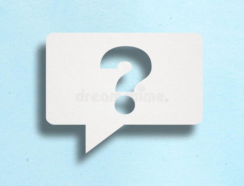 Pergunta Mark On Color Cardboard ilustração stock