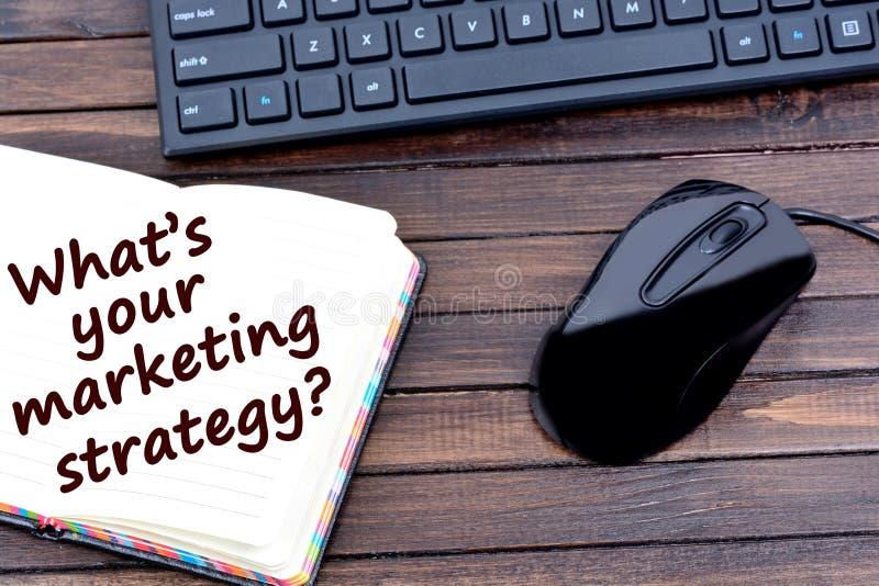 Pergunta que ` s sua estratégia de marketing fotos de stock