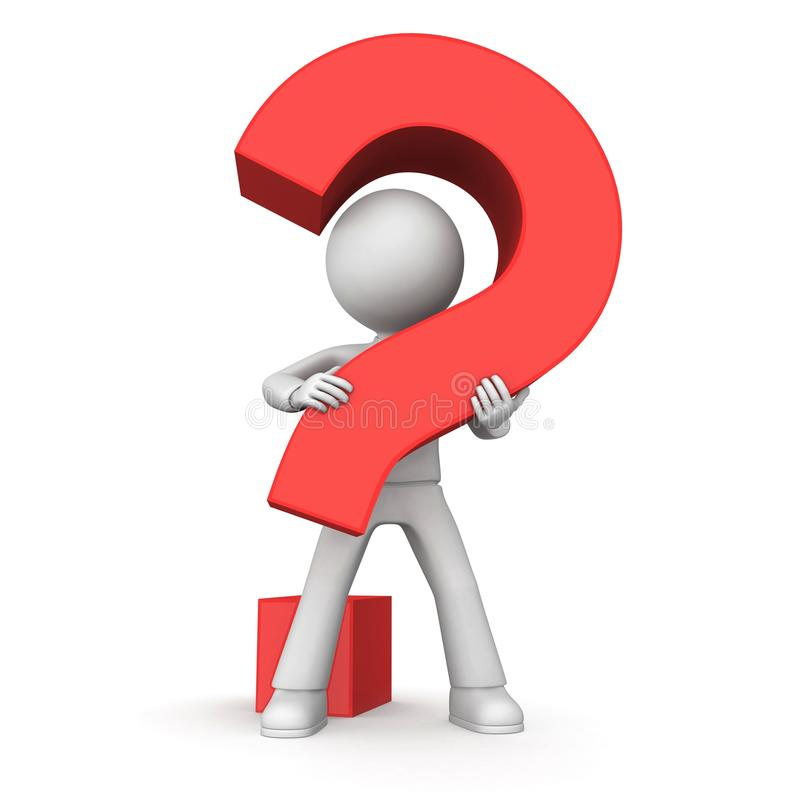 Pergunta vermelha fotos de stock