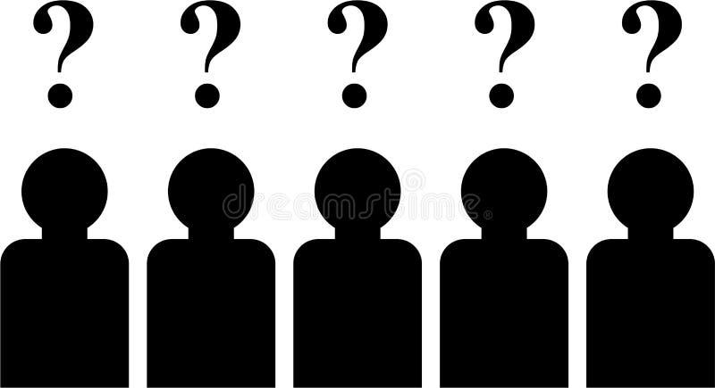 Perguntas da equipe ilustração do vetor