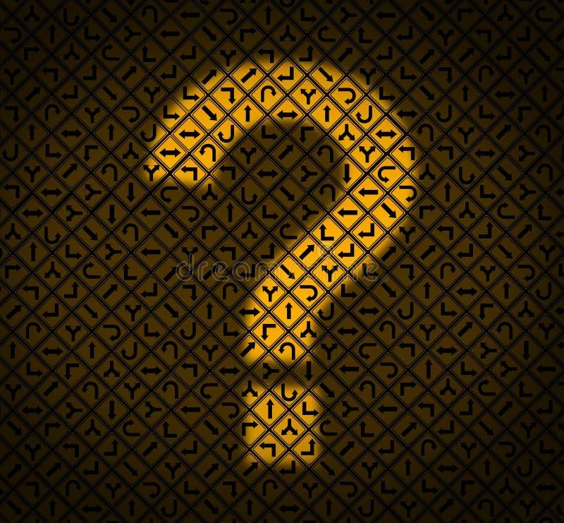 Perguntas da orientação ilustração royalty free