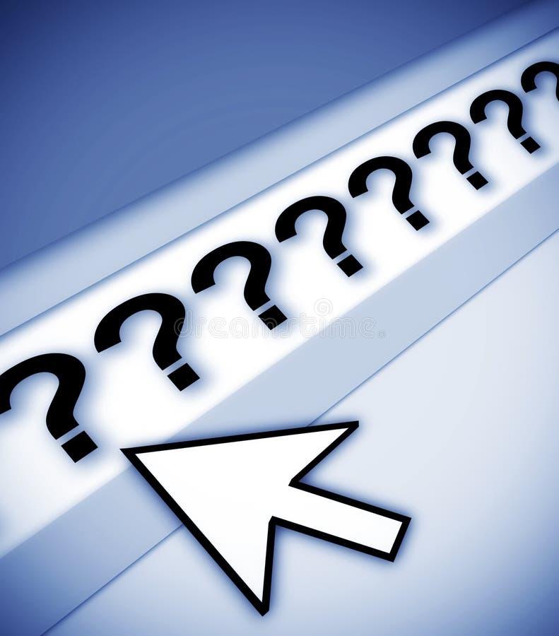 Perguntas das perguntas das perguntas ilustração royalty free