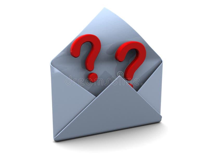 Perguntas do correio ilustração stock