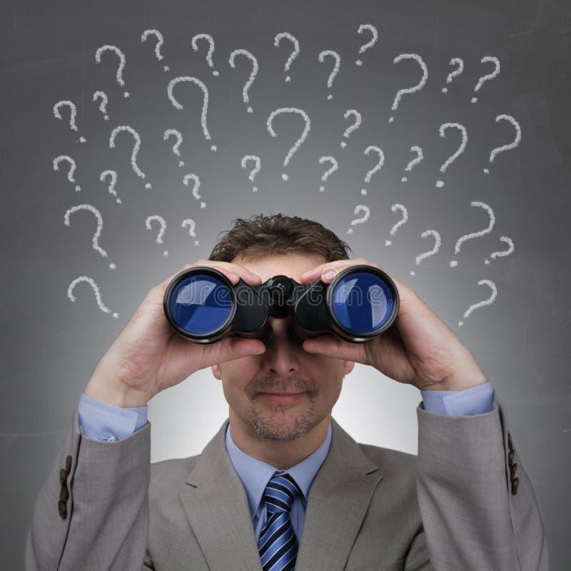 Perguntas do negócio fotos de stock royalty free