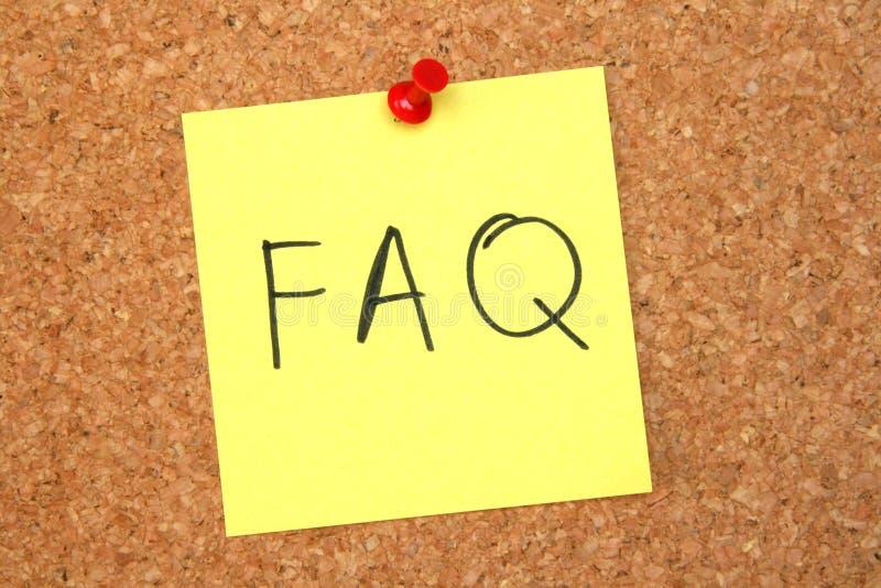Perguntas do quadro de anúncios foto de stock royalty free