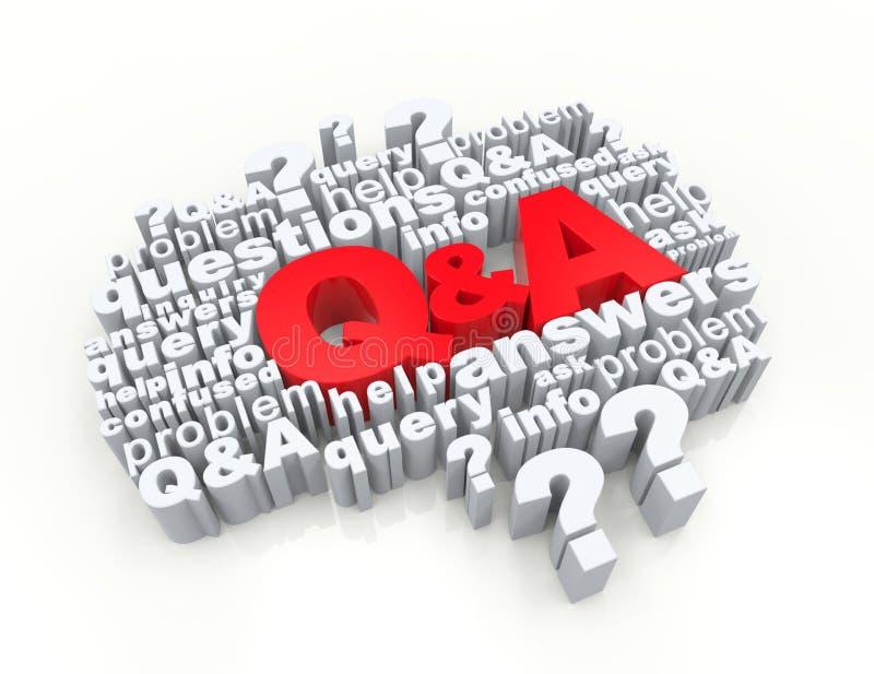 Perguntas e resposta ilustração stock
