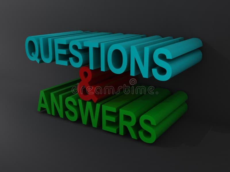 Perguntas e respostas ilustração stock