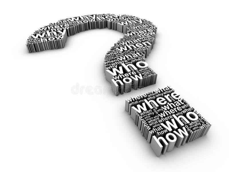 Perguntas freqüentemente feitas ilustração royalty free