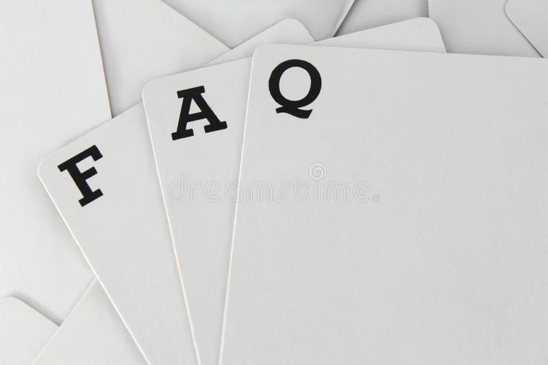 Perguntas freqüentemente feitas fotografia de stock royalty free