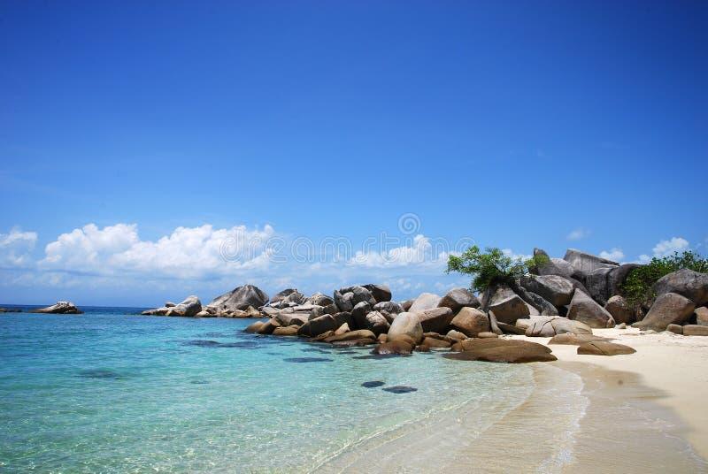perhentian海滩的海岛 免版税库存照片