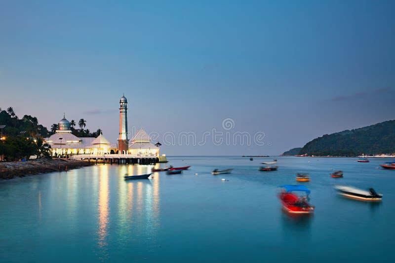 Perhentian öar på skymningen royaltyfria foton