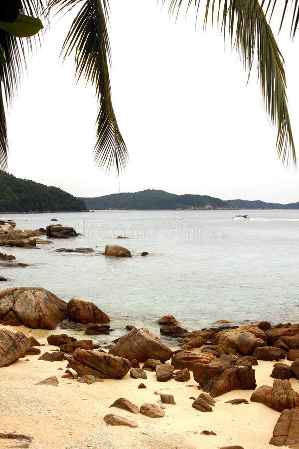 Perhentian islands - Malaysia. The Perhentian Islands lie approximately 10 nautical miles (19 km) off the northeastern coast of West Malaysia in the state of stock photography