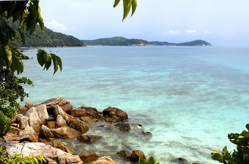 Perhentian islands - Malaysia. The Perhentian Islands lie approximately 10 nautical miles (19 km) off the northeastern coast of West Malaysia in the state of royalty free stock photo