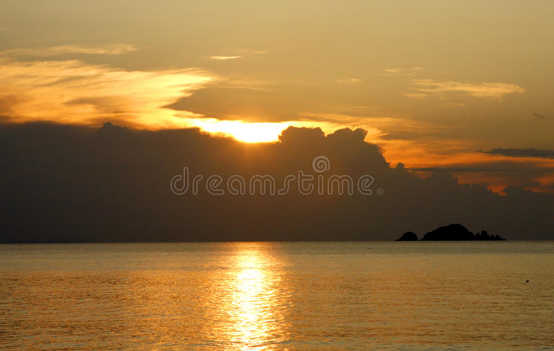 Perhentian islands - Malaysia. The Perhentian Islands lie approximately 10 nautical miles (19 km) off the northeastern coast of West Malaysia in the state of royalty free stock photography