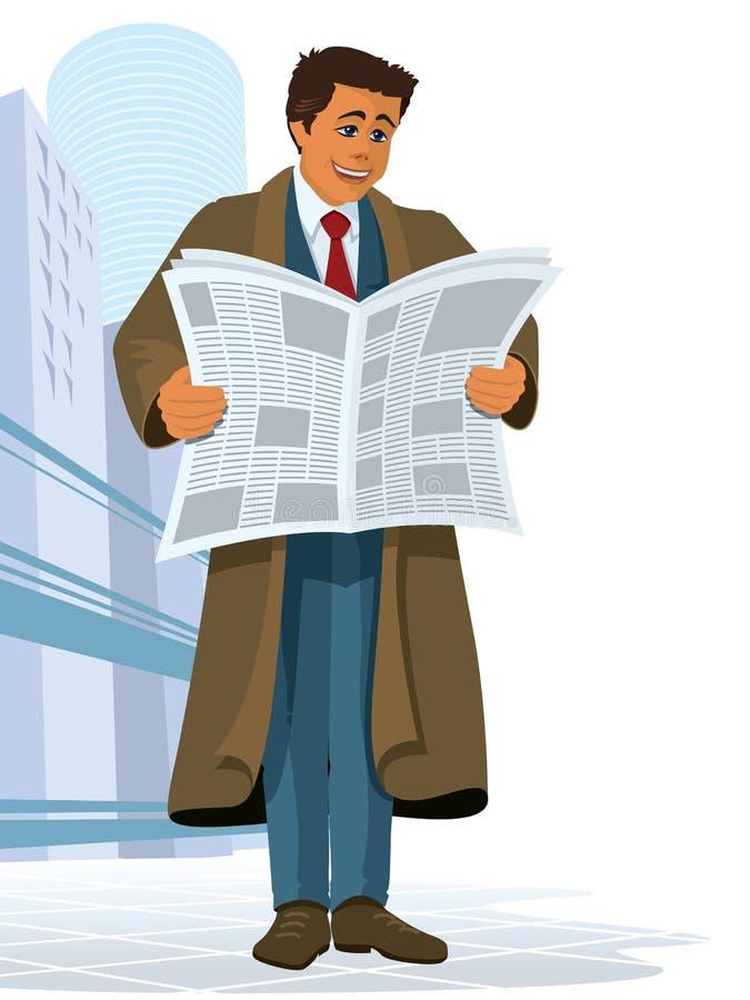 Periódico ilustración del vector
