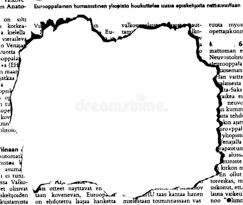 Periódico stock de ilustración