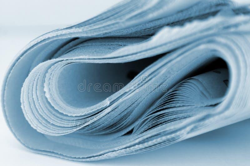Periódico aislado imágenes de archivo libres de regalías