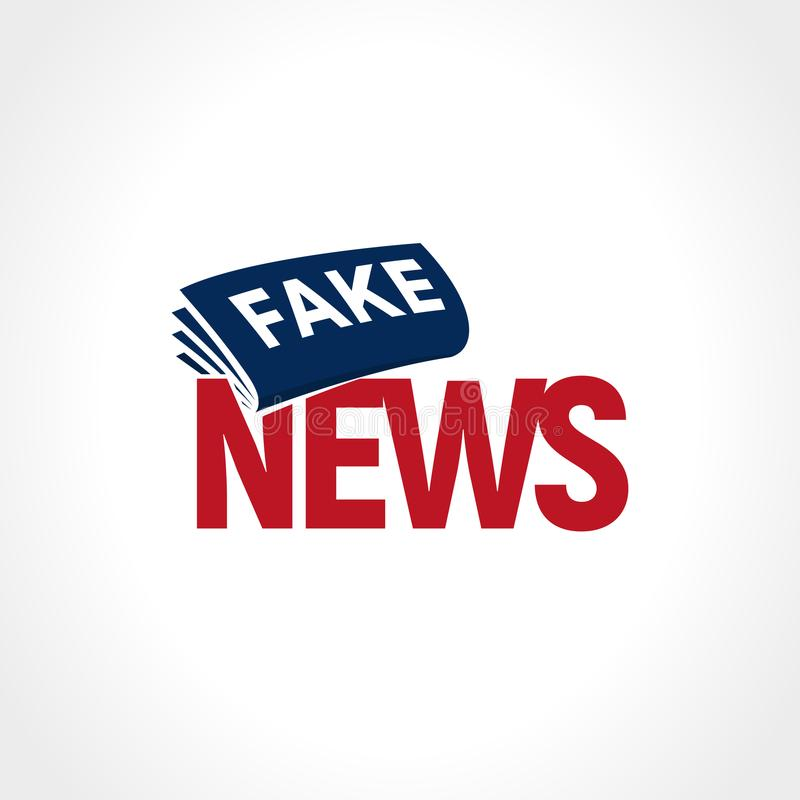 Periódico con la fractura de noticias falsas Muestra falsa de la televisión Logotipo del extracto de las noticias políticas Ilust libre illustration