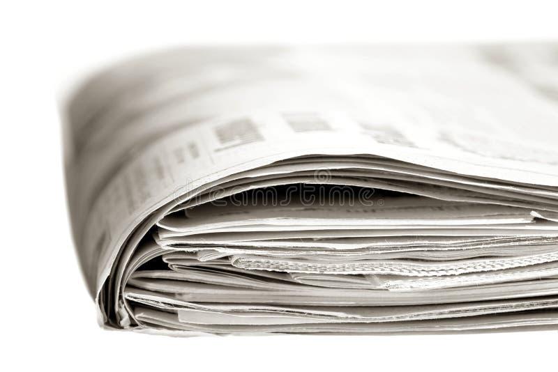 Periódico de domingo fotografía de archivo libre de regalías