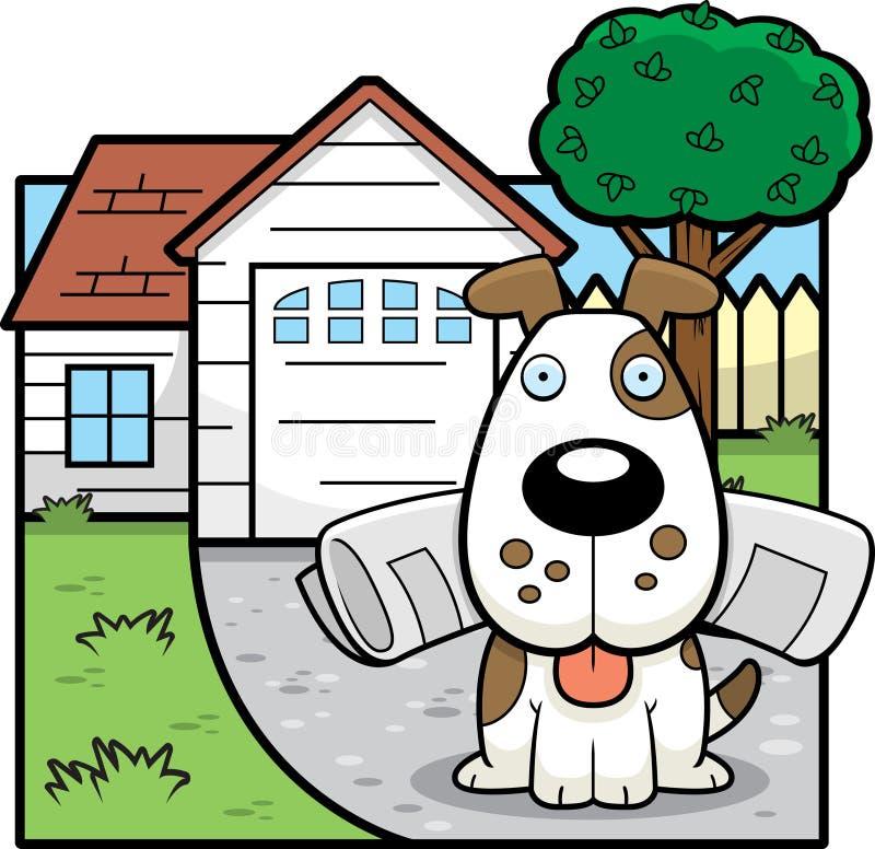 Periódico del perro ilustración del vector