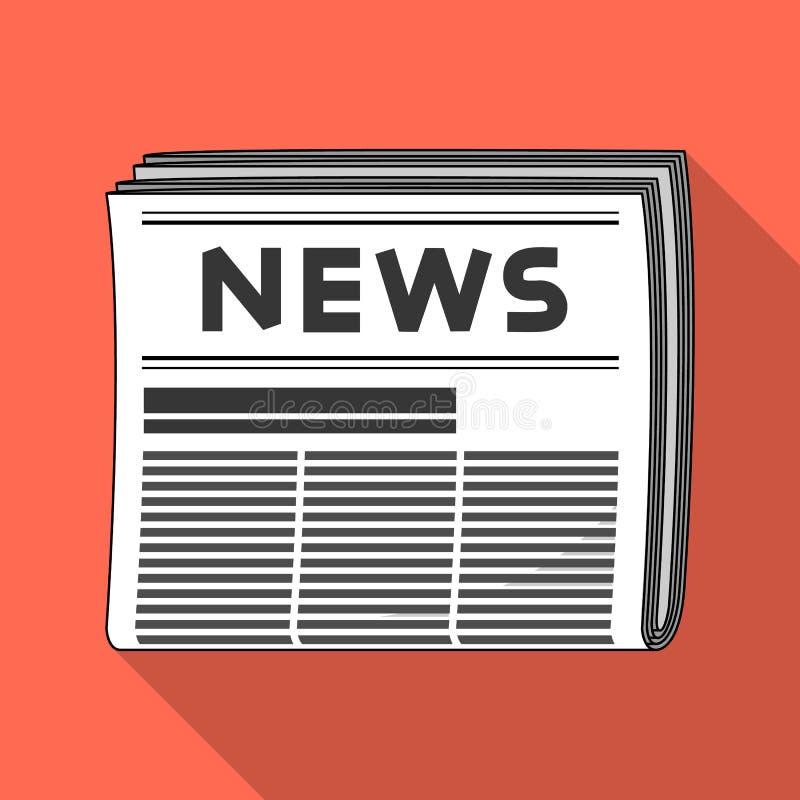Periódico El solo icono del correo y del cartero en estilo plano vector el web común del ejemplo del símbolo libre illustration