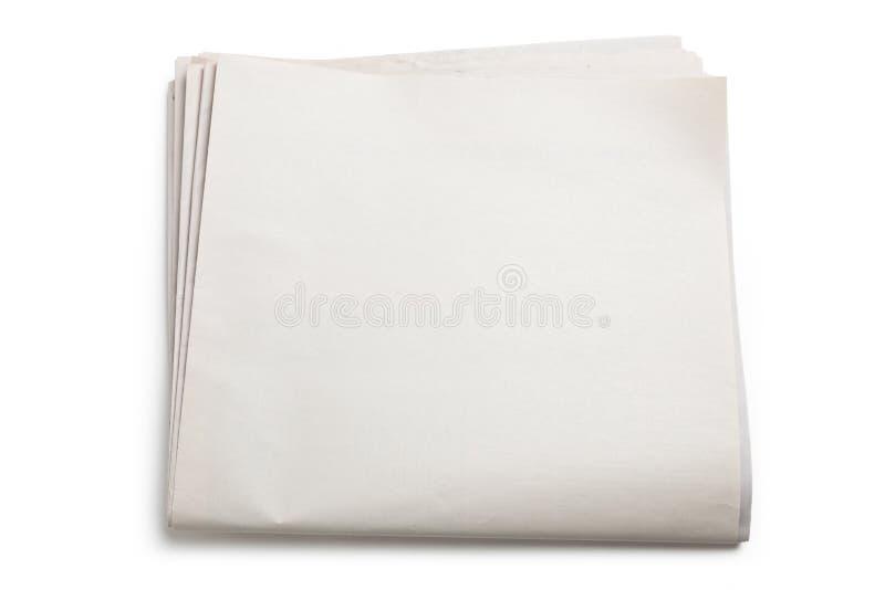 Periódico en blanco imagen de archivo