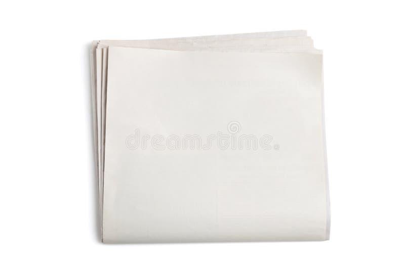 Periódico en blanco fotografía de archivo libre de regalías