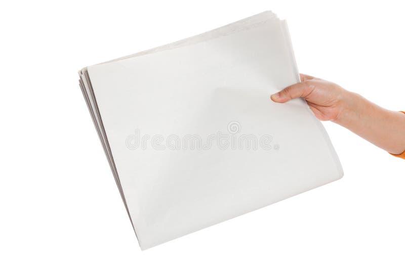 Periódico en blanco fotografía de archivo