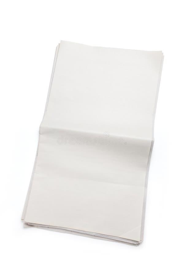 Periódico en blanco fotos de archivo libres de regalías