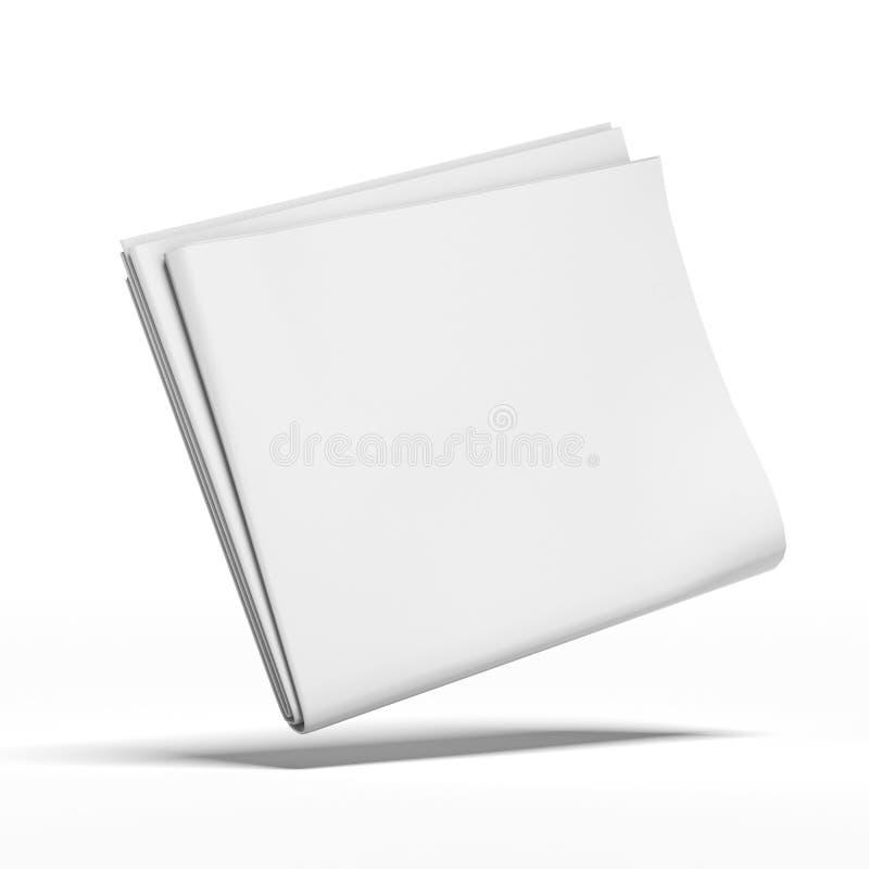 Periódico en blanco blanco ilustración del vector