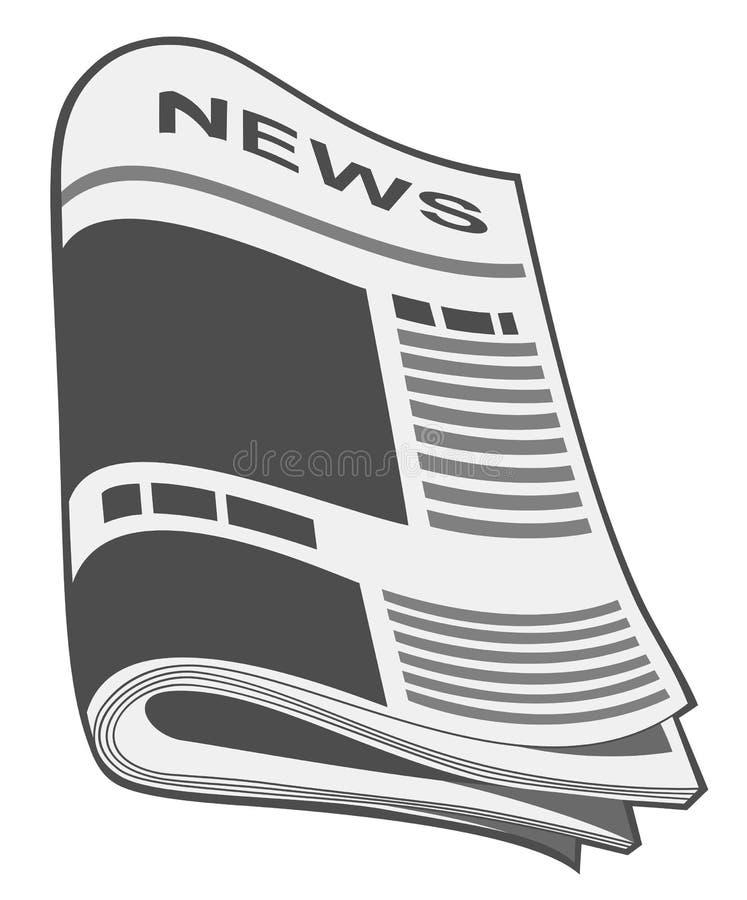 Periódico. Ilustración stock de ilustración