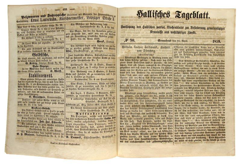 Periódicos generales de Halle imagen de archivo libre de regalías
