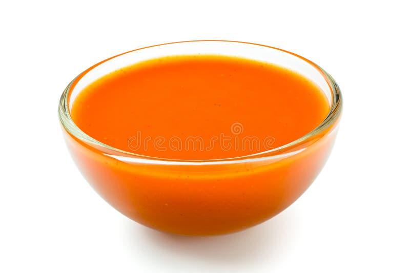 Peri peri chili kumberland w szklanym pucharze odizolowywającym na bielu obraz stock