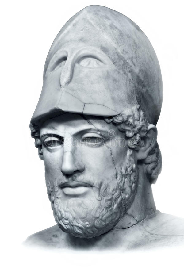 Download Pericles bust isolated stock photo. Image of history - 28759588