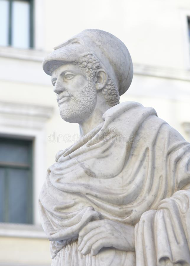 Pericles statue at Athens Greece stock images