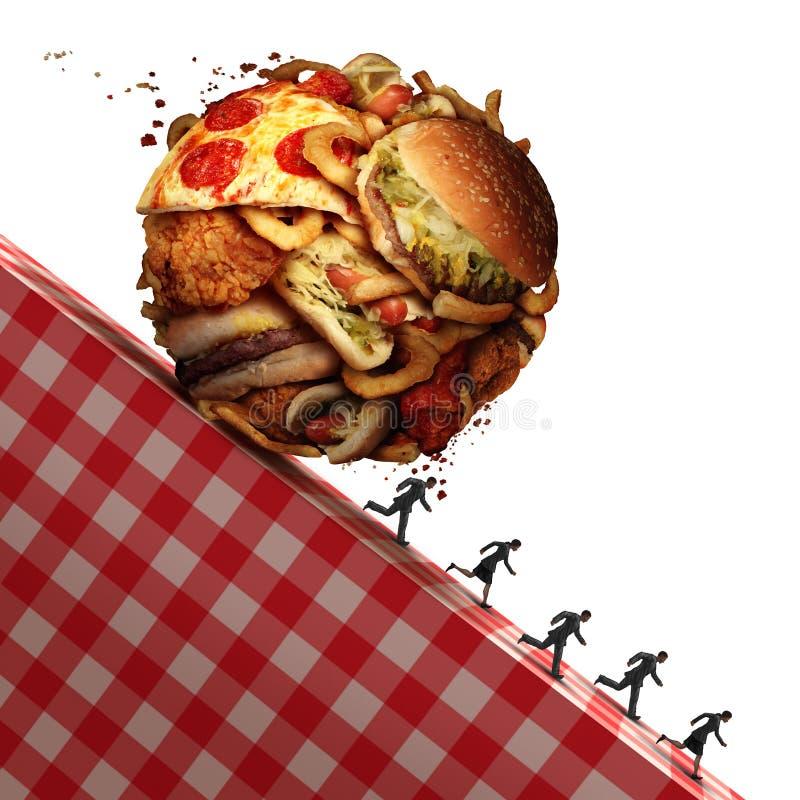 Pericolo per la salute del colesterolo illustrazione vettoriale