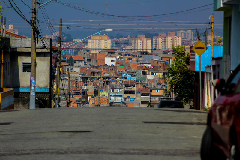 Periferia, Sao Paulo, el Brasil foto de archivo