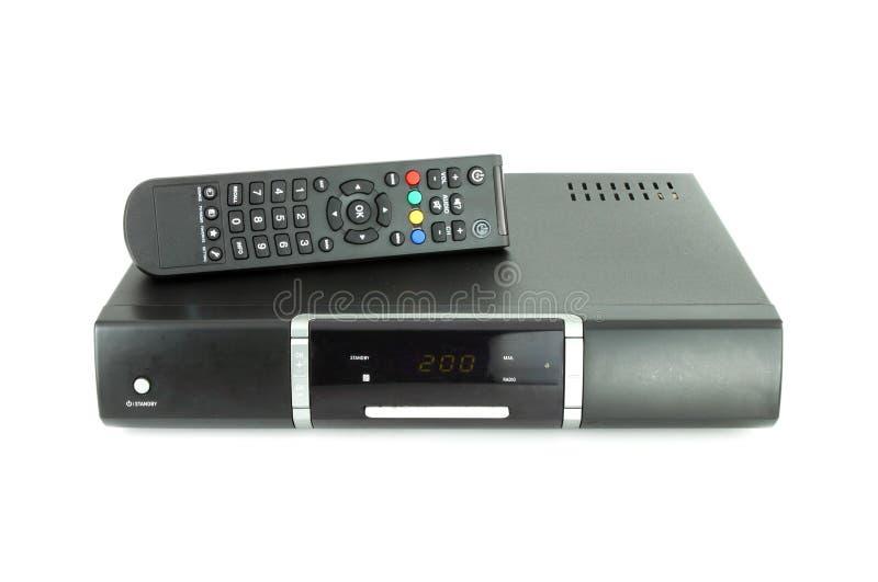 Periferico e ricevente per televisione via satellite immagini stock libere da diritti