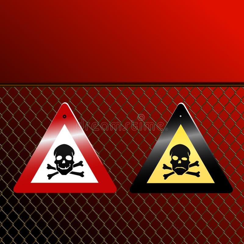 Perigo! ilustração stock