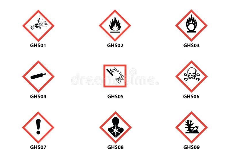 Perigo, aviso, ícone do CLP da atenção imagem de stock